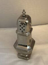 Antique Solid English Silver Sugar Caster Shaker Muffineer