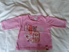 BABY GIRLS PINK T SHIRT 3-6 MONTHS 'LOVE' ABSOLUTELY IMMACULATE NO MARKS