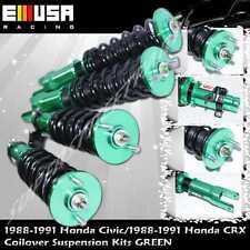 88 89 90 91 Honda CRX Full Coilover Suspension lowering Kits Non Damper GREEN