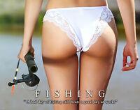 Sexy Women Bass Fishing Motivational Poster Art Print Fish Lures Wall Decor