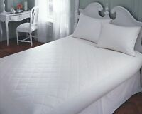 """16"""" EXTRA DEEP QUILTED MATTRESS PROTECTOR FITTED BED COVER SINGLE DOUBLE KING"""