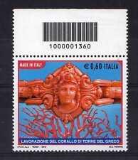 Italia 2010 Corallo di Torre del Greco con codice a barre Mnh
