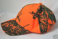 Mossy Oak Blaze Orange Camo 6-Panel Hat Cap, Camouflage