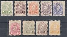 Argentina, Salta, Forbin 34-42  mint 1910 Wine Tax Revenues, run of 9 values