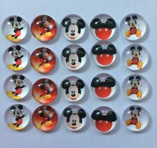 BB 12MM GLASS CABOCHONS - MICKEY MOUSE 5 pairs / 10 dome flatbacks