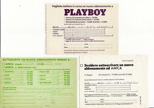 Lotto 14 Cedola Commissione Pubblicitarie 70 80 EDIZIONI RIZZOLI AMICA Playboy