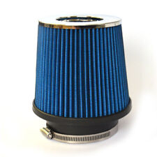 "3"" Inch Inlet High Flow Short Ram/Cold Intake Round Cone Mesh Air Filer Blue"