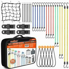Bungee Cords With Hooks 34pc Ball Bungees Set Canopy Ties Tarp Clips Cargo Net