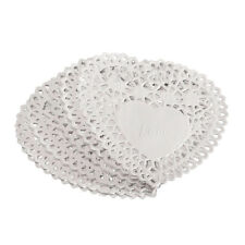 "100x 4"" White Love Heart Paper Lace Doilies doily For cardmaking scrapbooking C7"
