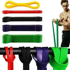 Resistance Bands Loop Exercise Sports Fitness Home Gym Yoga Latex Belt US