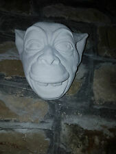 Gothique Gargoyle Greenman Homme Vert Visage Dents Plaster Wall Hanging Decor Plaque