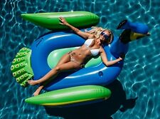Peacock Inflatable Raft Blue Swimming Pool Water Tube Float Party Island Lake