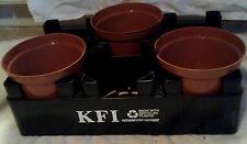 5 Black plastic 2 liter soda pop bottle plant pot carrier crate holder stackable