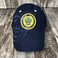 UNITED STATES ARMY USA US MILITARY NAVY BLUE HAT CAP ADJUSTABLE ONE SIZE OSFM