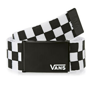 "Vans OTW ""Deppster II"" Classic Web Belt (Black/White) Bottle Opener Checkerboard"
