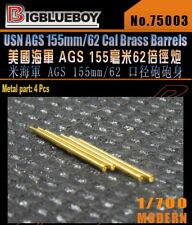 Bigblueboy PE 1/700 USN AGS 155mm/62 Cal Brass Barrels 75003