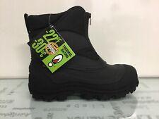 Tundra Mens Mitch Black Snow Boots Size 9