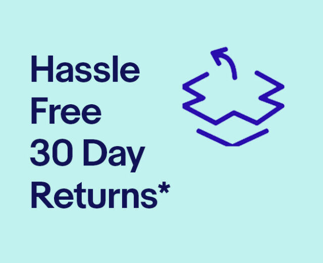 Hassle Free 30 Day Returns