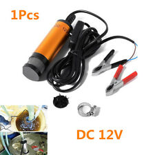 12V Golden Car Submersible Pump 38mm Water Oil Diesel Fuel Refueling Detachable