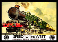 Speed To The West Railway 1939 Travel VINTAGE RETRO Posters Print #12 A3