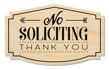 No Soliciting Sign Thank You, Cashew/Black