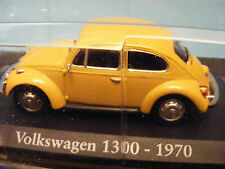 VW 'Beetle' 1300 1970 in YELLOW ORANGE  1:43 scale model Clam packed