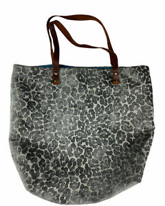 Urban Outfitters UO Velvet Cheetah Tote Shoulder Bag Carry All Anthro Leather
