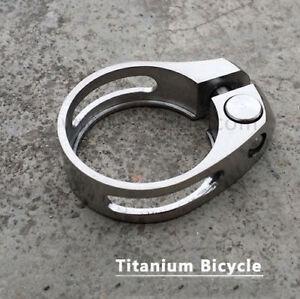 31.8mm Titanium Alloy Bicycle Seatpost Holder Clip Bike Ti color Seat Post Clamp