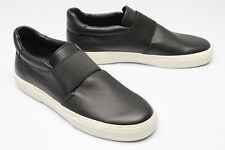 NWOB Vince Kirkland Leather Sneaker 9.5 M 39.5 Black White Low Slip On Shoe NEW