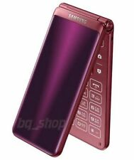 "Samsung Galaxy Folder 2 G1650 3.8"" Red 16GB Dual Sim Android Phone By FedEx"