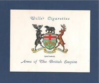 ONTARIO Canadian province COAT of ARMS 1933 original print