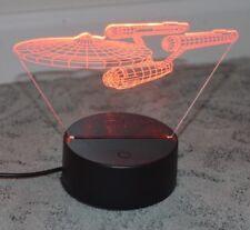 Star Trek Uss Enterprise 3D Led Night Light 3 Colors Switching