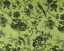 China Brokat Blumen und Vögel grün Meterware