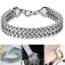 1*Silver Men's Stainless Steel Keel Chain Link Bracelet Wristband Bangle Jewelry