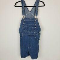 London London Womens Blue Jeans Denim Shortalls Bibs Overalls Size M