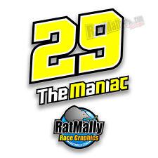 ANDREA IANNONE 29 MOTOGP RACE NUMBER NAME STICKERS DECALS GRAPHICS x3 *NEON