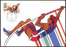 Estados Unidos 1983 Juegos Olímpicos con pértiga máximo Tarjeta #c 18547