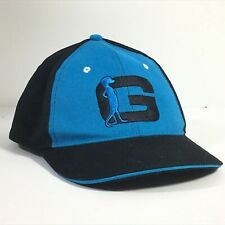 GEICO G Ball Cap w/ Gecko Lizard LOGO, Black & Sky Blue Adjustable Employee Hat