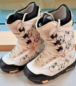 Burton Shaun White Snowboard Boots White/Black Men's Size 8.5 Imprint 3 GUC