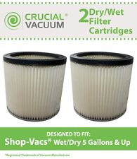 2 ShopVac Shop Vac Dry/Wet Cartridge Filters Part # 90304