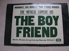 AMAZING 1960S POSTER OF 'THE BOYFRIEND' ORIGINAL GREAT SIZE   FREE UK POST
