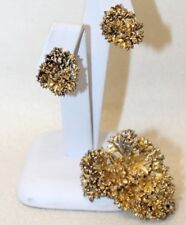 Flora Danika EGGERT Denmark Danish Sterling Silver Gold Vermeil Brooch Earrings