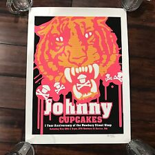 Johnny Cupcakes Signed Newbury St Boston 1 Year Anniversary Poster 51/150 RARE