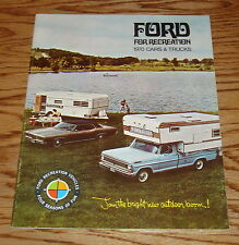 Original 1970 Ford for Recreation Car & Truck Sales Brochure 70 Mustang Falcon