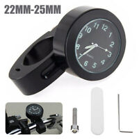 "Waterproof  7/8'' 1"" Motorcycle Handlebar Mount Dial Glow In Dark Clock Watch"