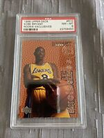 Kobe Bryant 1996 UD Rookie Exclusives #R10 PSA 8 Lakers Goat 🔥🐐Awesome