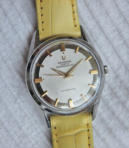 Vintage Universal Geneve Polerouter Jet automatic watch in steel, microtor 215-9