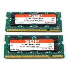 Kit 4GB Ram SQP 2x 2GB DDR2 SODIMM PC2-5300 200 pins 667 Mhz Mac PC T667SB2G/M