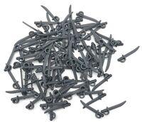 LEGO 100 NEW DARK BLUISH GREY MINIFIGURE SWORDS PIRATE WEAPONS PIECES