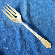 Wm A Rogers Meat Fork Meadowbrook / Heather Silverplate Oneida Ltd A1 Plus 8""
